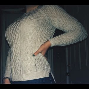 White Sweater w/ slight sparkle